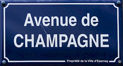 Champagne Avenue in Epernay