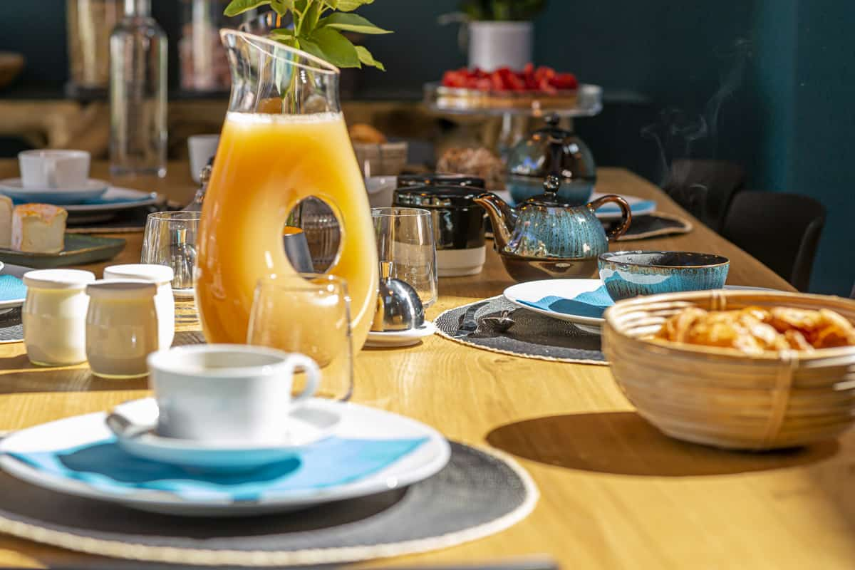 A French-style breakfast is always a gourmet and sociable occasion